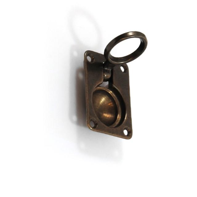 RECESSED PULL RING FOR HIDDEN DOOR-OXIDE COLOR